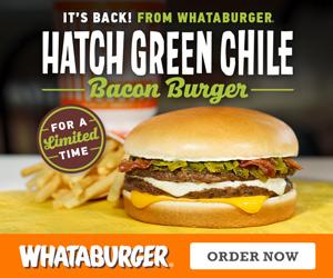 Whataburger Hatch Green Chili Bacon Burger